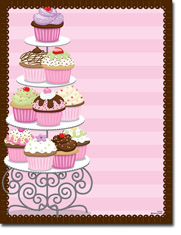 Paper So Pretty - Blank Designer Papers (Cupcakes) (DP1073)